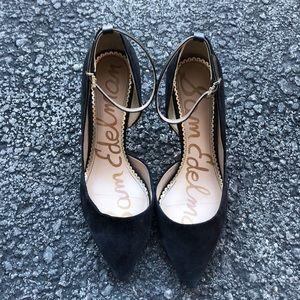 Sam Edelman Pointed Suede Dress Heels 6.5